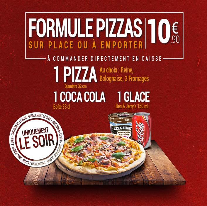 Formule pizza pas chère à Castres, Mazamet et Limoux