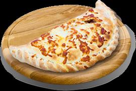 Pizza calzone à 7,50 € - jambon, champignons et œuf