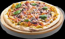 Pizza reine à 7 € - jambon et champignons